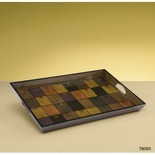 ColorBlock Decorative Tray in Wood