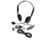 Andrea C1-1023300-50 NC-125 VM Stereo PC Headset - Wired, 3.5mm Plug, 8' Cable, 23mm Speaker Drivers, Noise Canceling Microphone, Inline Volume and Mute Controls, Adjustable Headband, Foldable Design