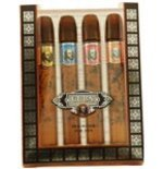CUBA VARIETY by Cuba - SET-4 PIECE MINI VARIETY WITH CUBA GOLD, RED, BLUE, & ORANGE & ALL ARE .17 OZ for MEN