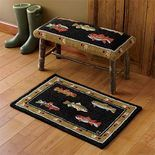 Orvis Hooked-Wool Trout Bench and Trout Rug