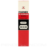 100 Black Feather Double-Edge Safety Razor Blades