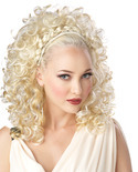Curly Blonde Grecian Goddess Wig