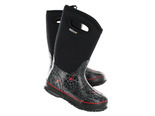 Bogs Boys' CLASSIC SPIDERS II black waterproof boots