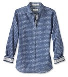 Orvis Women's Lightweight Wrinkle-Free Blue Floral Shirt