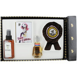 JUICY CRITTOURE by Juicy Couture SET-FOR DOGS-EAU DE PARFUM SPRAY 1 OZ & SOFT SPOT COAT CONDITIONING MIST 5 OZ & PAWLETTES CLEANSING TOWELETTES 6 PACK & SOFT SQUEAKY CHEW TOY