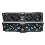 Pyle Pro PFN41 19-Inch Super Cool Rack Mount Cooling Fan System with Temperature Display