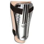 adidas 11Chrome Shinguard - Metallic Silver/Black